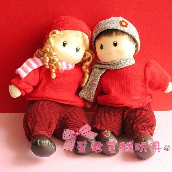 红色A款结婚礼物婚庆娃娃/情侣娃娃