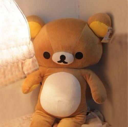 日单SAN-X Rilakkuma 大号轻松熊空调被 轻松小熊抱毯0.7kg
