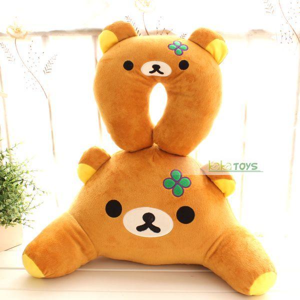 新款轻松熊腰枕靠垫U形枕汽车腰枕轻松小熊减压腰枕办公必备