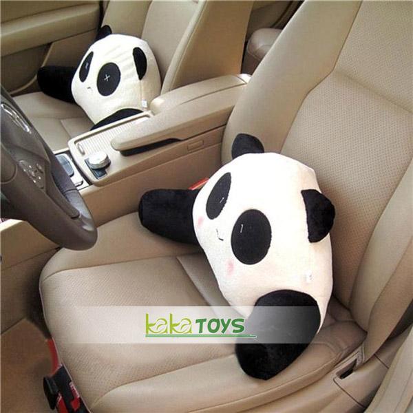 可爱熊猫表情靠垫/腰枕/腰靠/腰垫汽车用 办公室 椅垫
