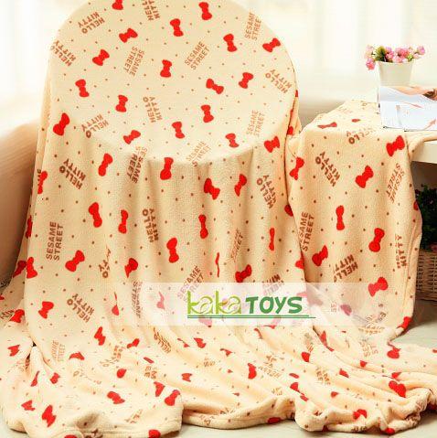 hello kitty凯蒂猫芝麻街限量合作空调毯 珊瑚绒毯 床单