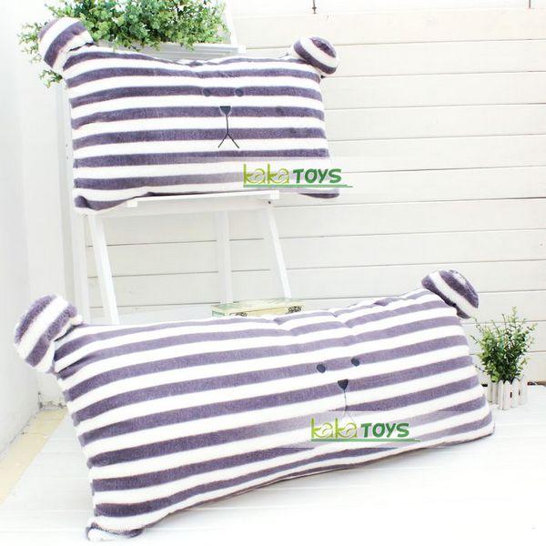 新款日本梨花系条纹熊 波点兔靠垫双人枕头超大靠垫腰枕 可拆洗