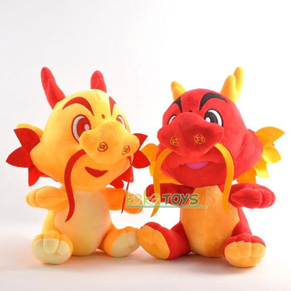 2012新品热卖 龙年玩具可爱卡通情侣龙毛公仔绒玩具